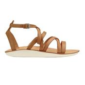 OluKai Po'iu Womens Sandals, Mustard-Bone, medium