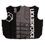 Liquid Force Flex Comp Adult Life Vest 2017, Black-Silver, medium