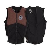 Liquid Force Z-Cardigan Comp Adult Life Vest 2017, Coal-Tan, medium