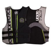 Liquid Force Vortex CGA Adult Life Vest 2017, Black-Silver, medium