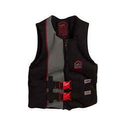 Liquid Force Hinge CGA Teen Life Vest 2017, Black-Red, 256