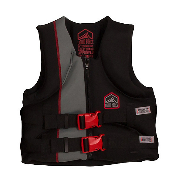 Liquid Force Junior Hinge CGA Junior Life Vest 2017, Black-Red, 600