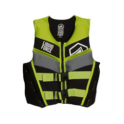 Liquid Force Fury Junior Life Vest 2017, Black-Green, 256