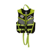 Liquid Force Fury Child Toddler Life Vest 2017, Black-Green, medium