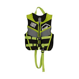 Liquid Force Fury Child Toddler Life Vest 2017, Black-Green, 256