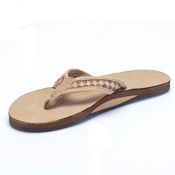 Rainbow Sandals The Bentley Premier Mens Flip Flops, Sierra Brown-Dark Brown, 600
