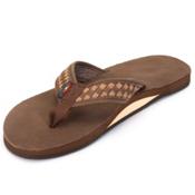 Rainbow Sandals The Bentley Premier Mens Flip Flops, Expresso-Dark Brown, medium