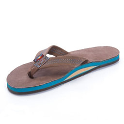 Rainbow Sandals Premier Blues Mens Flip Flops, Expresso, 256