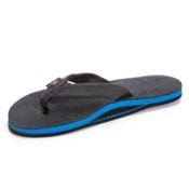 Rainbow Sandals Premier Blues Mens Flip Flops, Premier Black, medium
