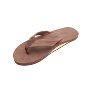 Rainbow Sandals Single Layer Premier Leather Mens Flip Flops, Expresso, medium
