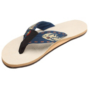 Rainbow Sandals Single Layer Hemp Fish Strap Mens Flip Flops, Gold, medium