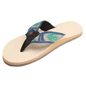Rainbow Sandals Single Layer Hemp Fish Strap Mens Flip Flops, Light Green, medium