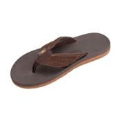 Rainbow Sandals East Cape Mens Flip Flops, Dark Brown, medium