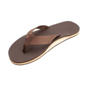 Rainbow Sandals Classic Rubber Mens Flip Flops, Brown, medium