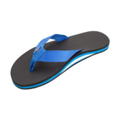 Rainbow Sandals Classic Rubber Mens Flip Flops, Black-Blue, medium