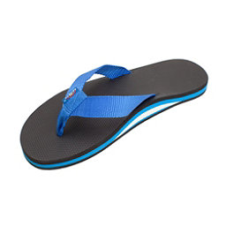 Rainbow Sandals Classic Rubber Mens Flip Flops, Black-Blue, 256