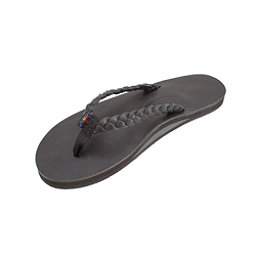 Rainbow Sandals Twisted Sister Womens Flip Flops, Black, 256