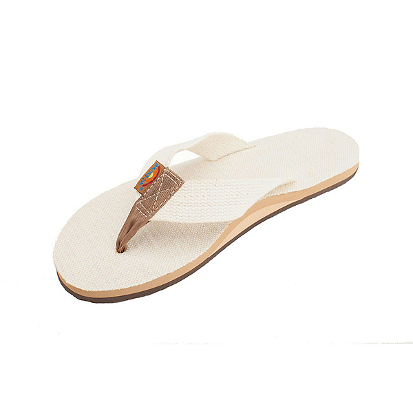 Rainbow Sandals Single Layer Hemp Womens Flip Flops, Natural, 600