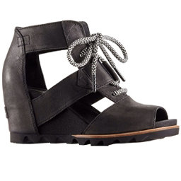 Sorel Joanie Lace Womens Sandals, Black-Sea Salt, 256