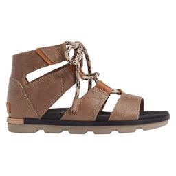 Sorel Torpeda Lace II Womens Sandals, Sahara-Black, 256