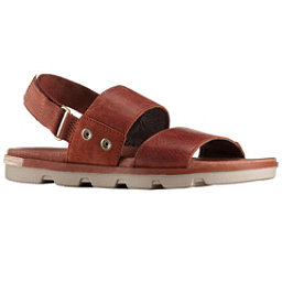 Sorel Torpeda Womens Sandals, Rustic Brown-Fossil, 256