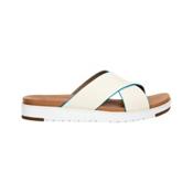 UGG Kari Womens Sandals, White, medium