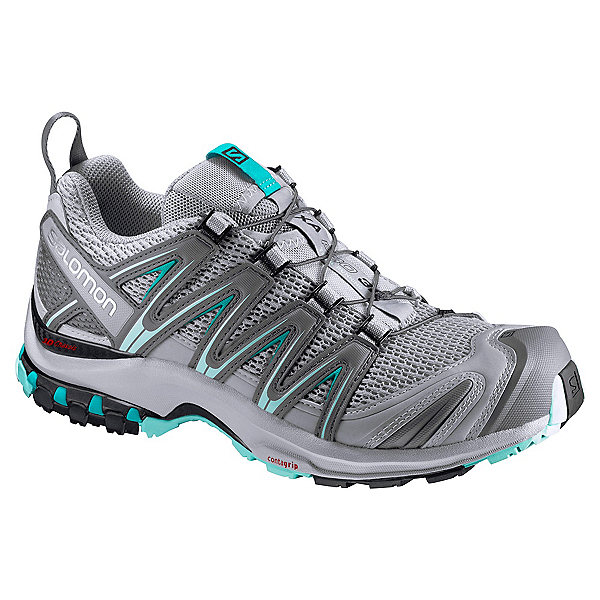 Salomon XA Pro 3D Womens Shoes, Quarry-Pearl Blue-Aruba Blue, 600