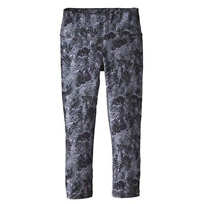 Patagonia Centered Crops Womens Pants, Tidal Flats Black, viewer
