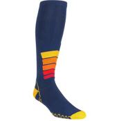 Euro Sock Ski Silver Compression Plus Ski Socks, Navy, medium
