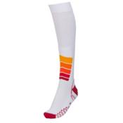 Euro Sock Ski Silver Compression Plus Ski Socks, White, medium