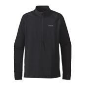 Patagonia All Weather Zip Neck Mens Shirt, Black, medium