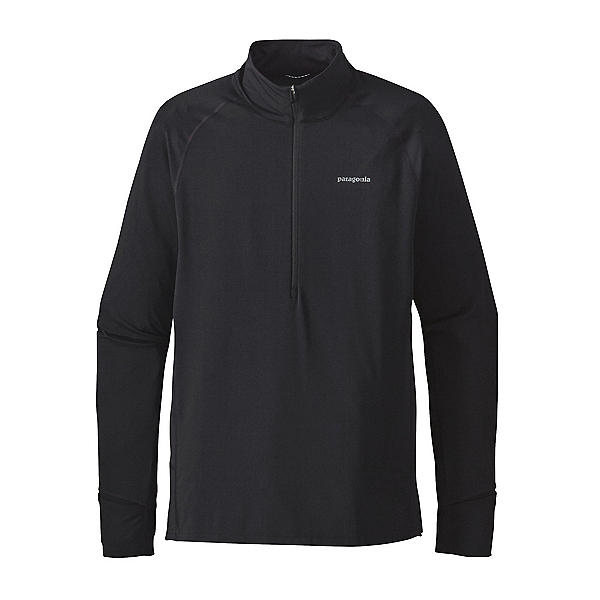 Patagonia All Weather Zip Neck Mens Shirt, Black, 600
