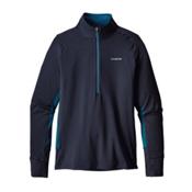 Patagonia All Weather Zip Neck Mens Shirt, Navy Blue, medium