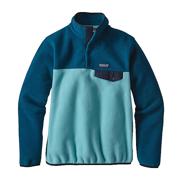 Patagonia Lightweight Synchilla Snap-T Pullover Womens Fleece, Cuban Blue, 600