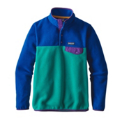 Patagonia Lightweight Synchilla Snap-T Pullover Womens Fleece, True Teal, medium