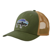 Patagonia Fitz Roy Bison Trucker Hat, Buffalo Green, medium