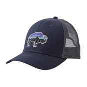 Patagonia Fitz Roy Bison Trucker Hat, Navy Blue, medium