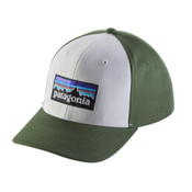Patagonia P-6 Logo Roger That Hat, White, medium