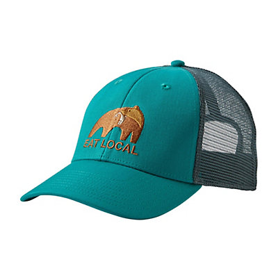 Patagonia Eat Local Upstream LoPro Trucker Hat, True Teal, viewer