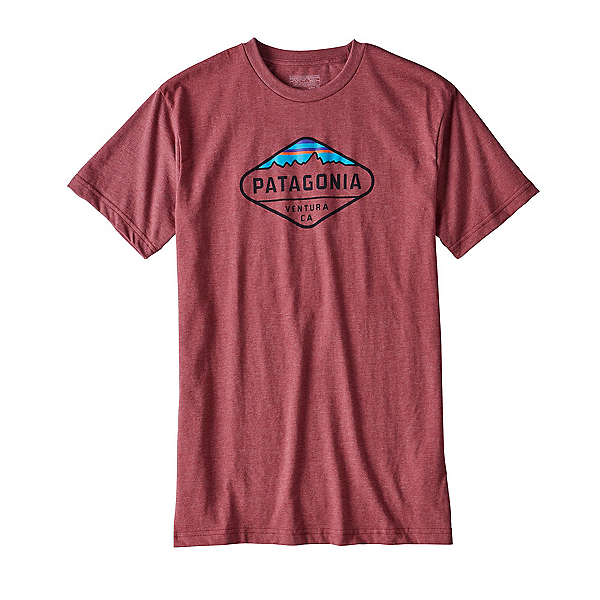 Patagonia Fitz Roy Crest Mens T-Shirt, Adzuki Red, 600