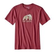 Patagonia Eat Local Upstream Mens T-Shirt, Adzuki Red, medium