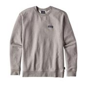 Patagonia P-6 Label Midweight Crew Mens Sweatshirt, Feather Grey, medium