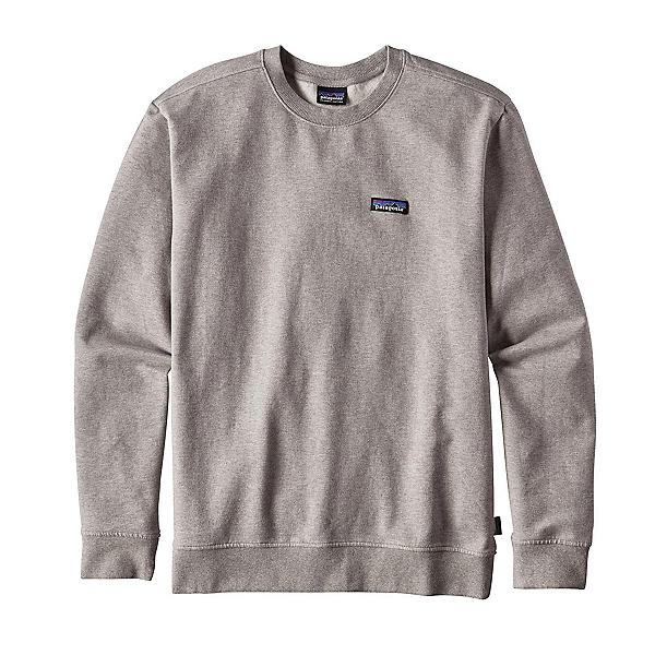 Patagonia P-6 Label Midweight Crew Mens Sweatshirt, Feather Grey, 600