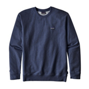 Patagonia P-6 Label Midweight Crew Mens Sweatshirt, Navy Blue, medium