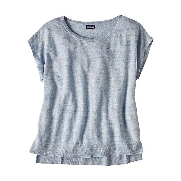 Patagonia Lightweight Linen Top Womens Shirt, Cuban Blue, 600