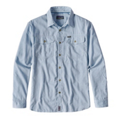 Patagonia Cayo Largo Long Sleeve Mens Shirt, Radar Blue, medium