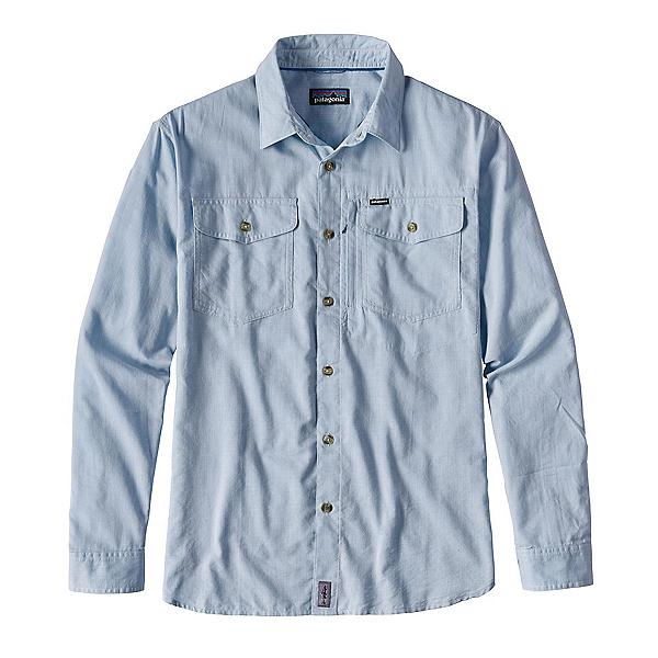 Patagonia Cayo Largo Long Sleeve Mens Shirt, Radar Blue, 600
