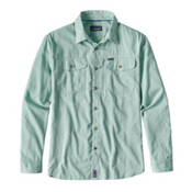 Patagonia Cayo Largo Long Sleeve Mens Shirt, Gill Green, medium