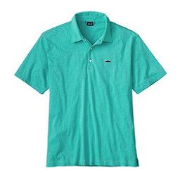 Patagonia Trout Fitz Roy Polo Mens Shirt, Galah Green, 256