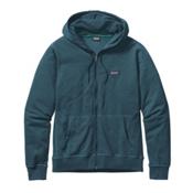 Patagonia Lightweight Full Zip Mens Hoodie, Bay Blue, medium